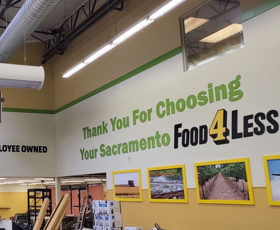 Food 4 Less Commercial Interior Painting Project